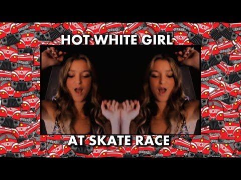 Hot White Girl at Skate Race