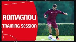 Training | Alessio Romagnoli at work at Milanello