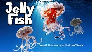 Rainbow Loom 3D JellyFish Charms How To Without Loom