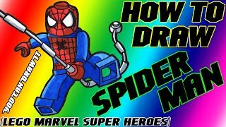 How To Draw Spider-Man From Lego Marvel Super Heroes