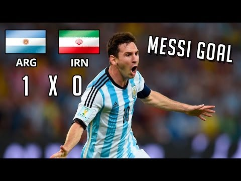 Lionel Messi Fantastic Late Goal vs Iran ● 21/06/2014 ||HD||