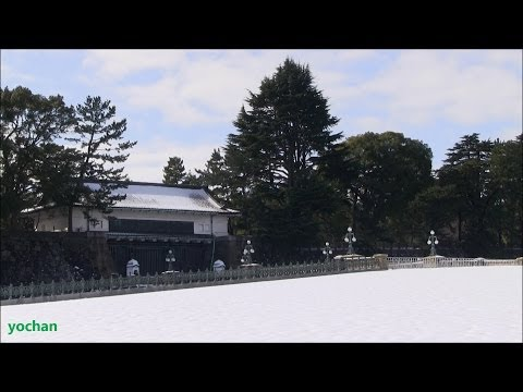 Snow scene - Tokyo Imperial Palace (Clear weather after snowfall)  大雪が降った翌日の皇居