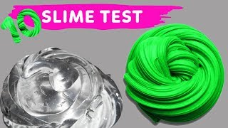 NO GLUE SLIME TEST 10 Amazing Water Slime Recipe