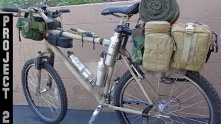 Stealth Bug Out Survival Vehicle-Camping Bikepacking Bike