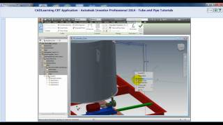 AutoDesk Inventor 2014 Tube And Pipe Using Point Snap