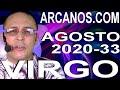 Video Horóscopo Semanal VIRGO  del 9 al 15 Agosto 2020 (Semana 2020-33) (Lectura del Tarot)