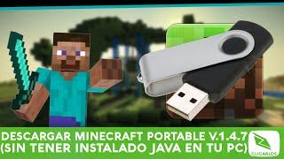 Descargar Minecraft Portable Sin Instalar Java En Tu Pc