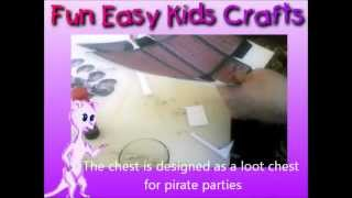 Make a cardboard Pirate treasure chest loot box view on youtube.com tube online.