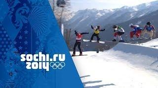 Eva Samkova Wins Gold In An Amazing Snowboard Cross Big Final | Sochi 2014 Winter Olympics