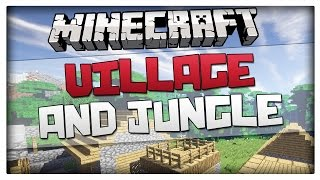 Minecraft Seeds Village And Jungle Biome At Spawn Seed
