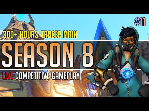 Overwatch Season 8: Tracer Main Competitive Gameplay Live! #11