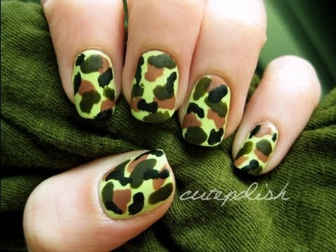 Camouflage Nails (No Tools Required!)