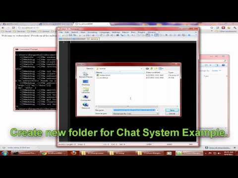 Node.JS & Socket.IO Chat System in Windows