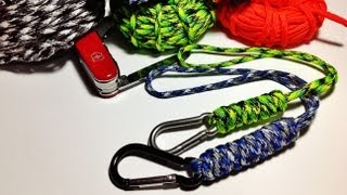 How To Make / Tie Wrist Paracord Lanyard With The Snake