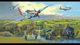 Dogfight- P-51 Attacking German Battleship