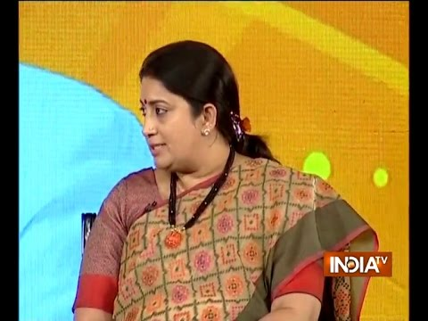 BJP Govt is quite serious about safety of women in the country, says Smriti Irani in indiaTV Samvaad