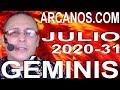 Video Horóscopo Semanal GÉMINIS  del 26 Julio al 1 Agosto 2020 (Semana 2020-31) (Lectura del Tarot)