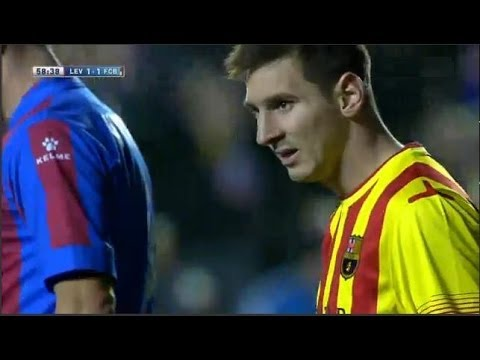 Levante vs Fc Barcelona 1-1 All Goals & Highlights | 19/01/2014