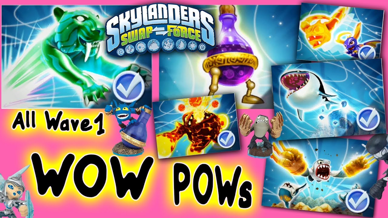 All Skylanders Swap Force Wow Pows for Wave 1 S2 S3 Stealth Elf