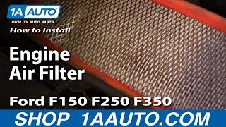 How To Install Replace Engine Air Filter Ford F150 F250