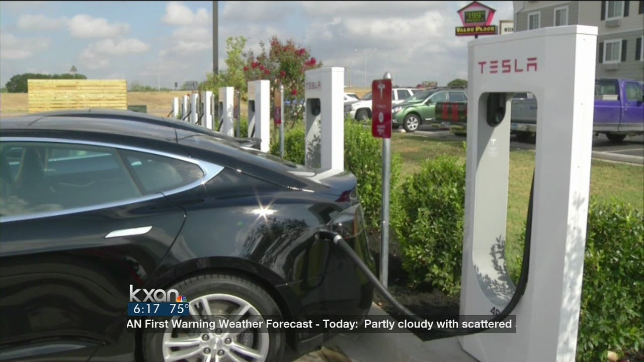 Tesla Opens Supercharger Station Youtube