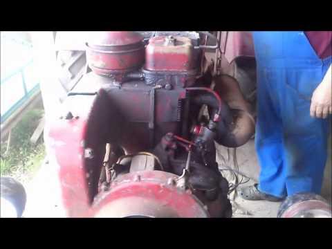 démarrage du vieux tracteur porsch