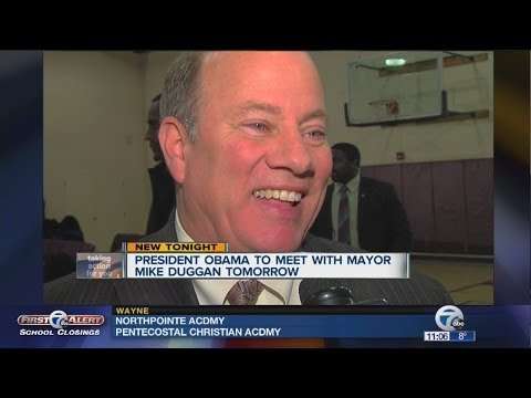 President Obama to meet with Detroit Mayor Mike Duggan Friday