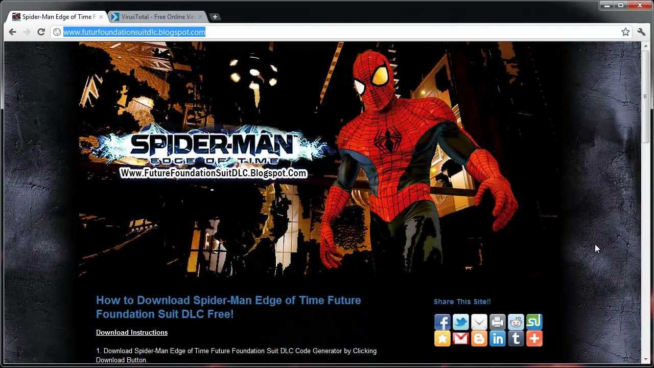 Spider man edge of time spider man suits
