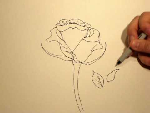 How to draw a rose with a sharpie 1 youtube for Cool things to do with roses
