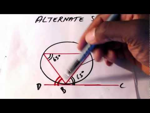 CXC Math. Circle Theorem. Alternate Segment, Lesson 4 CSEC CXC Maths