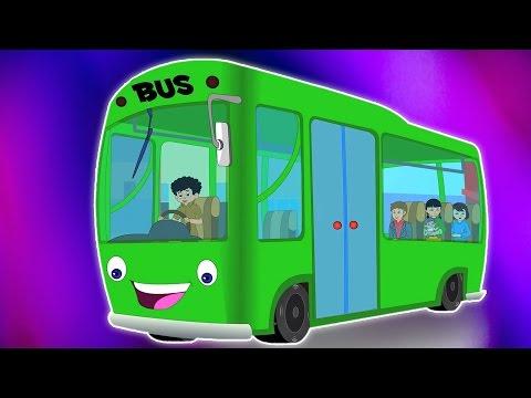 Bánh xe trên xe buýt | Phim hoạt hình cho trẻ em | biên soạn | Ươm vần | Wheels on the Bus