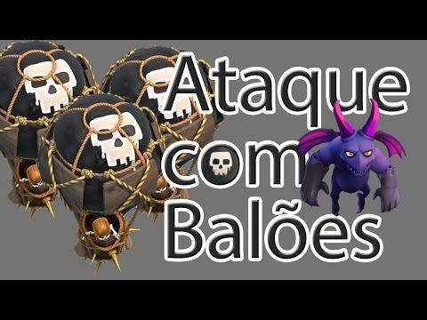 Ataque com Balões - Clash of Clans - FC do Clash