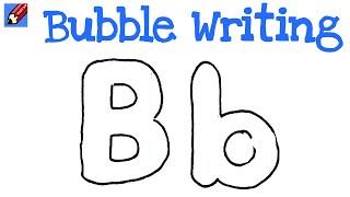 Q Bubble Letter How to Draw Bubble Letter B