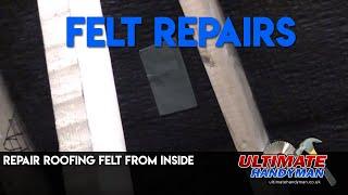 Roofing felt repair