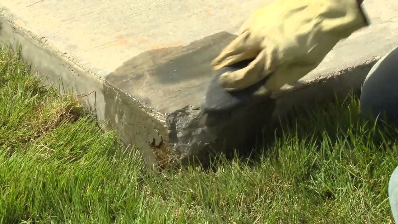How To Repair Concrete Edges And Corners With Quikrete