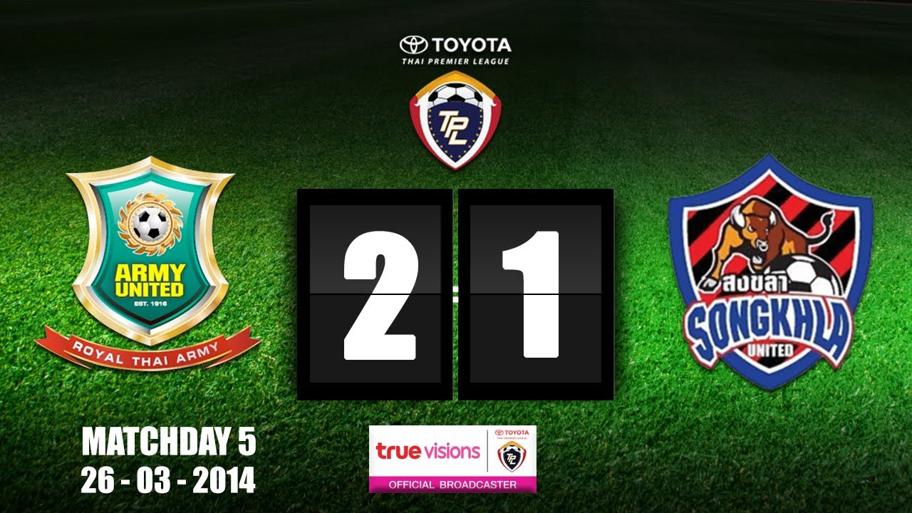 Royal Thai Army FC 2-1 Songkhla United