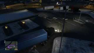 GTA V Road Trip Trucking With 18 Wheeler (Audio Muted