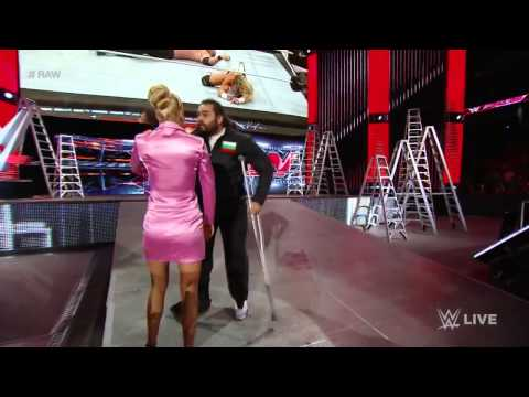 Rusev injures Lana - WWE  Raw, June 8, 2015