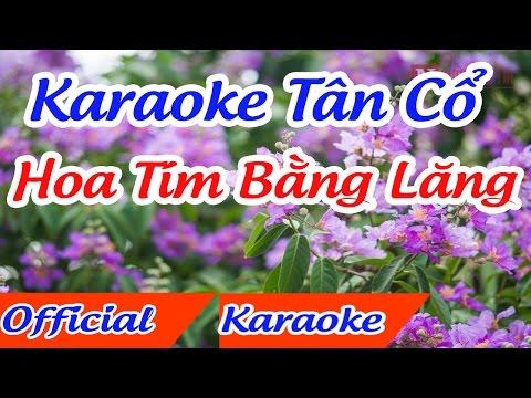 Hoa tím bằng lăng karaoke tân cổ song ca,thanh tuấn thanh kim huệ,karaoke hoa tím bằng lăng song ca