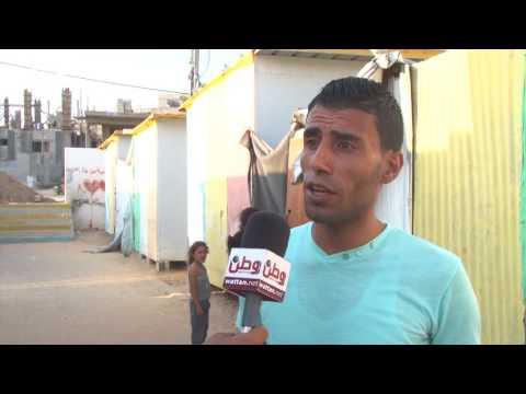 """"""" كرفانات غزة"""".. محنة وخطر وصفيح ملتهب"""