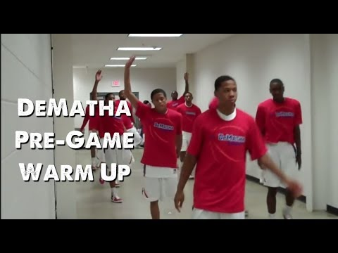 DeMatha Basketball Pre-Game Warm-up (2010)