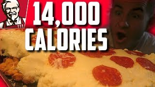 EPIC FRIED CHICKEN PIZZA | 14,000+ CALORIES