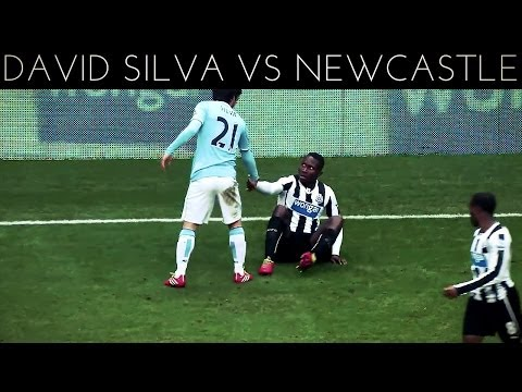 David Silva vs Newcastle (A) 2013-2014 EPL HD