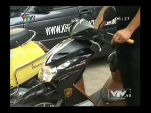 Khóa xe máy thông minh - made in Việt Nam - VTV1 - khóa chống trộm xe máy