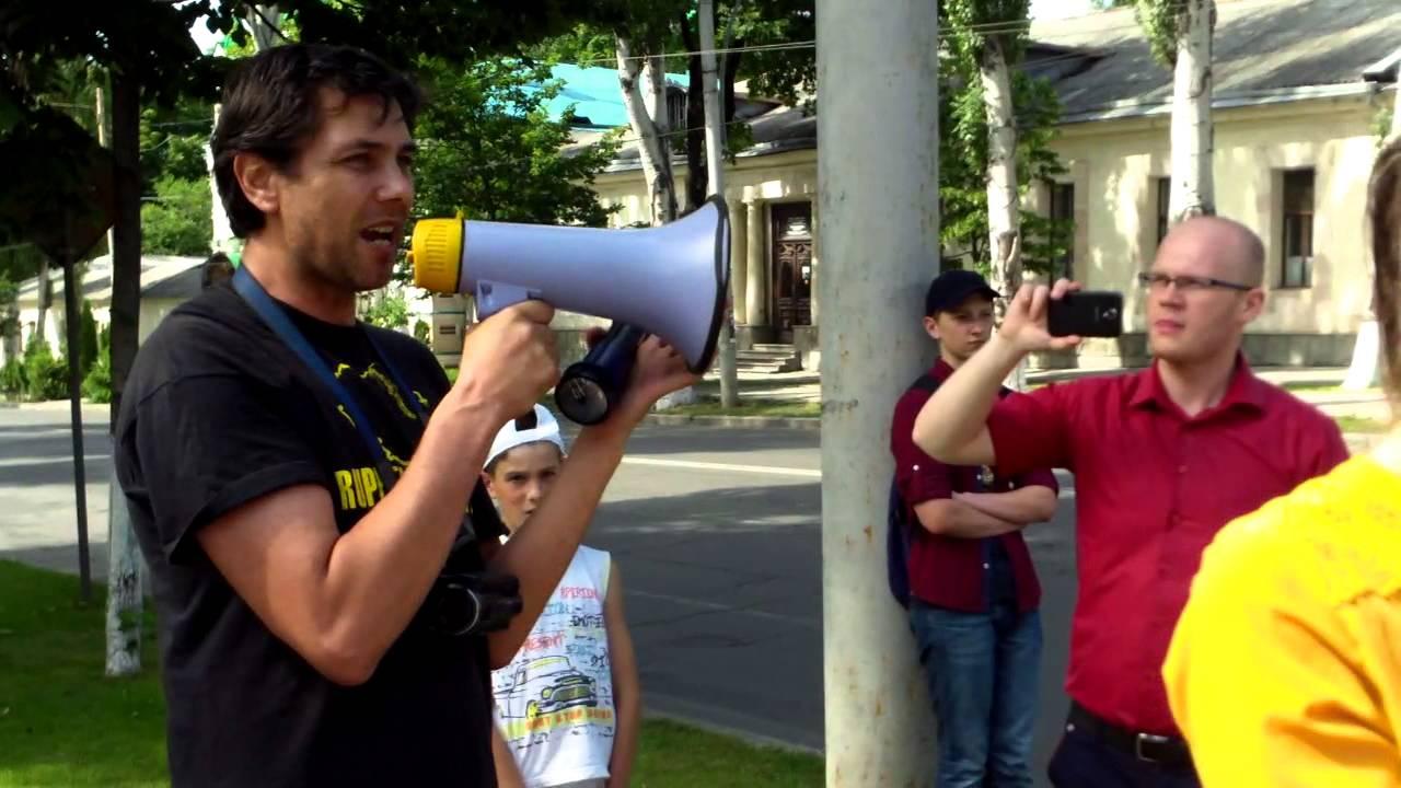 Protest anti-ocupație la ambasada rusă din Chișinău