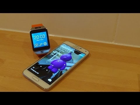 Unboxing & 1st Look at The Samsung Galaxy Gear 2 Wild Orange with Samsung Galaxy S5