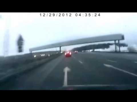 Accidente aereo grabado en video