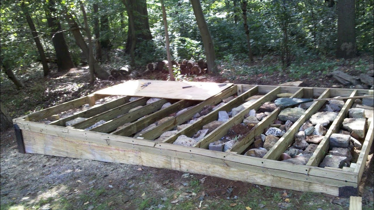 Today how to build a level platform for a shed sanki for Cheapest way to build your own home