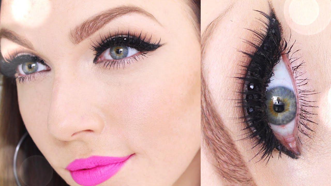 New Yearu0026#39;s Eve Makeup : *Rhinestone Cat Eye* - YouTube