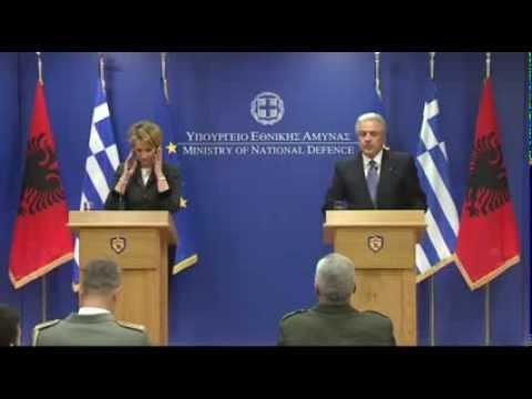 Επίσημη επίσκεψη της ΥΠΑΜ Αλβανίας Μimi Κodheli στην Ελλάδα (14/1/2014)